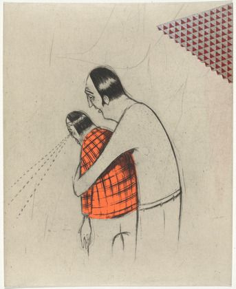 barry mcgee // drypoint, chine colle