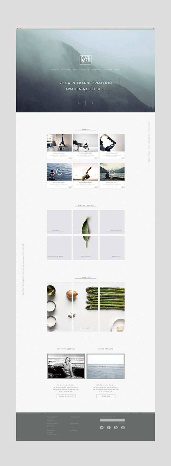 Love the muted colour scheme. #Yoga Website by Shou-Wei Tsai #simple