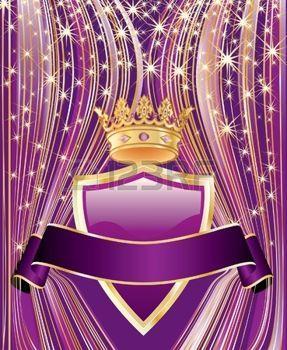 curtain star:  arrière-plan de succès en couleurs pourpres