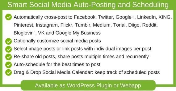 Blog2Social gives you with a prepared to make use of social media scheduler for the perfect instances to publish on every social community