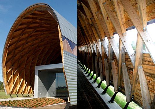 17 best lamella roof images on pinterest arquitetura for Shelter studios
