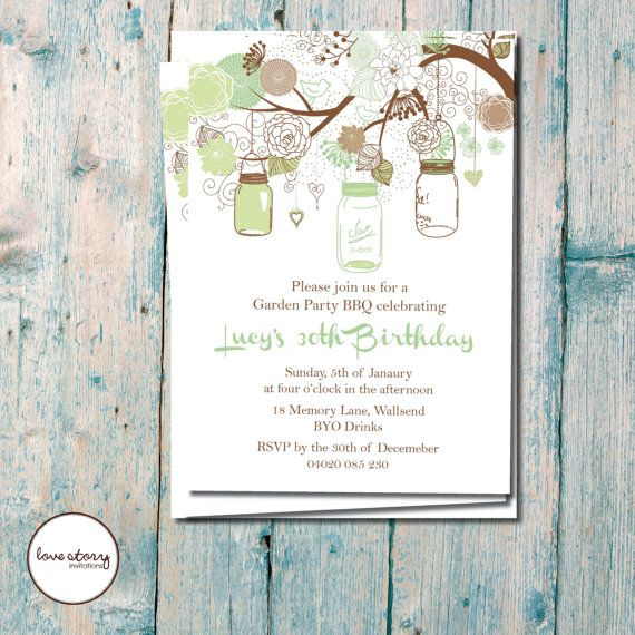 Garden Party / Birthday Invitation / Vintage Wedding / DIY Printable / Printed invitations with free envelopes & postage #bestofEtsy #etsyretwt