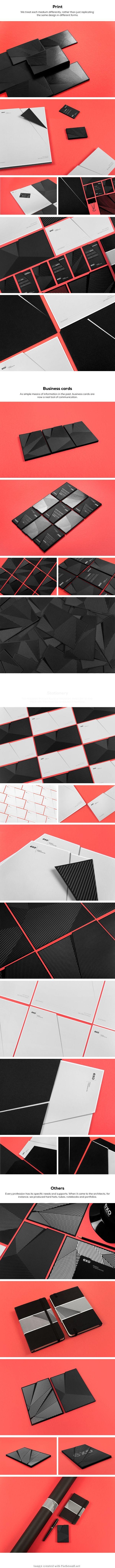 EXO | #stationary #corporate #design #corporatedesign #identity #branding #marketing < repinned by www.BlickeDeeler.de | Visit our website: www.blickedeeler.de/leistungen/corporate-design