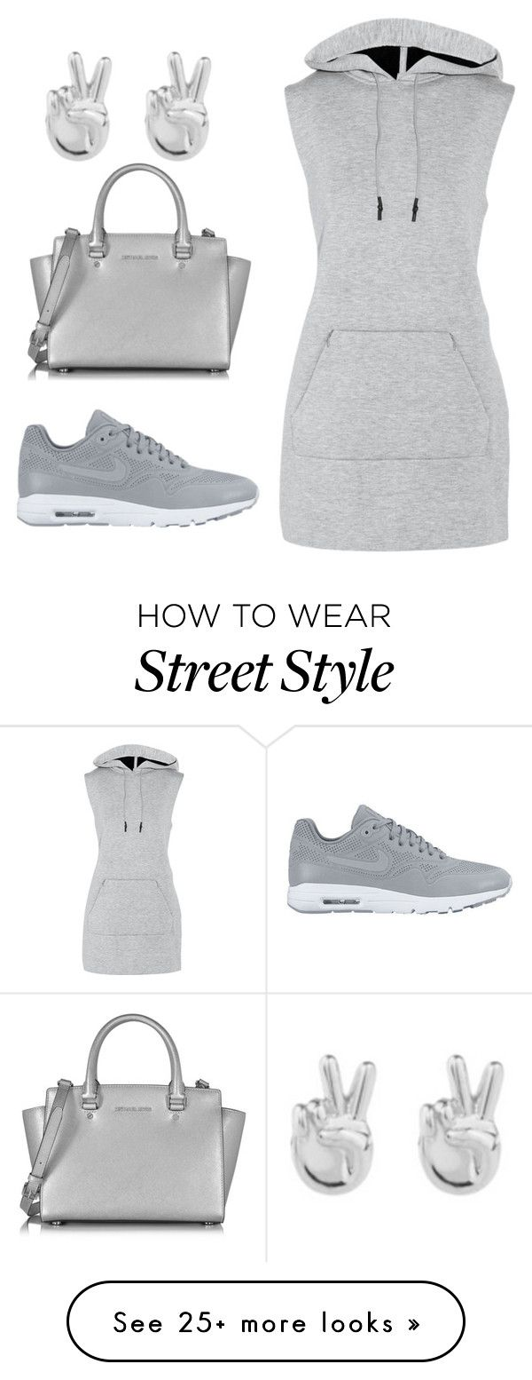 """""""street style"""" by carrington1999 on Polyvore featuring T By Alexander Wang, NIKE, Rock 'N Rose and Michael Kors"""