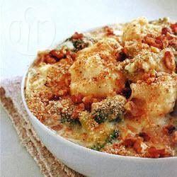 Foto recept: Broccoli en bloemkool uit de oven 373 kcal