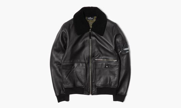Stone Island Shadow Project Fall/Winter 2014 Leather Flight Jacket