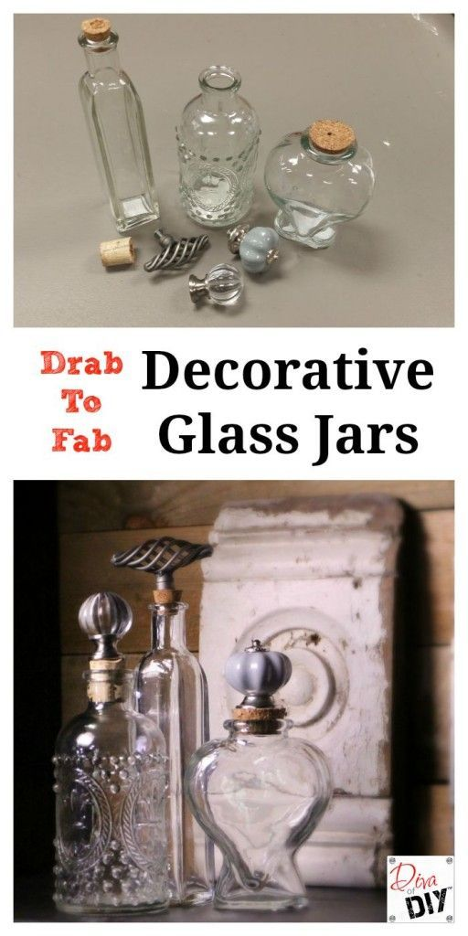 Glass jars with decorative cork stoppers