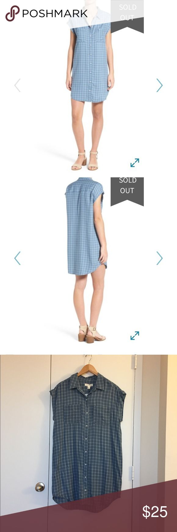 "NWT Treasure & Bond Plaid Boyfriend Shirtdress Laid-back shirtdress styled with a crisp spread collar, rolled cap sleeves, and a streamlined and relaxed silhouette. 37"" length. Front button closer and chest patch pockets. Never been worn, tags still attached. Treasure & Bond Dresses"