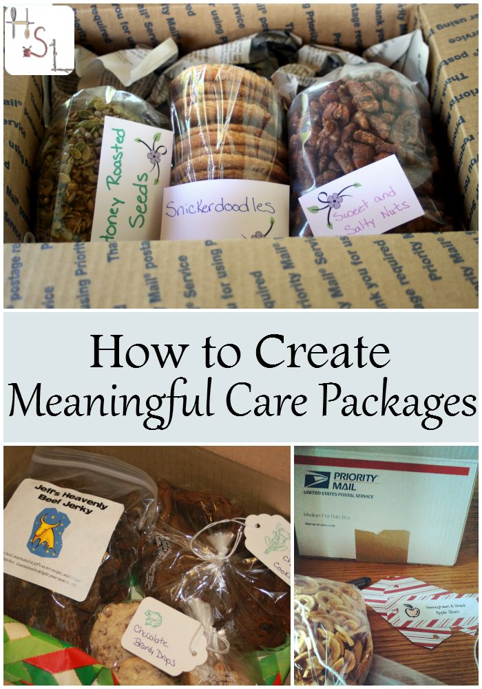How to Create Meaningful Care Packages | Homemade, Gift and College