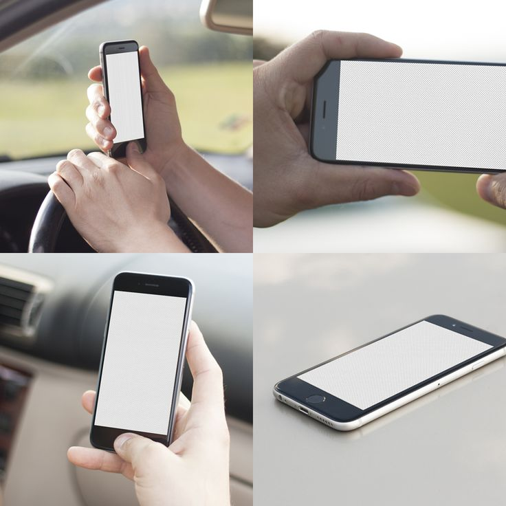 iPhone 6 Car Mockups