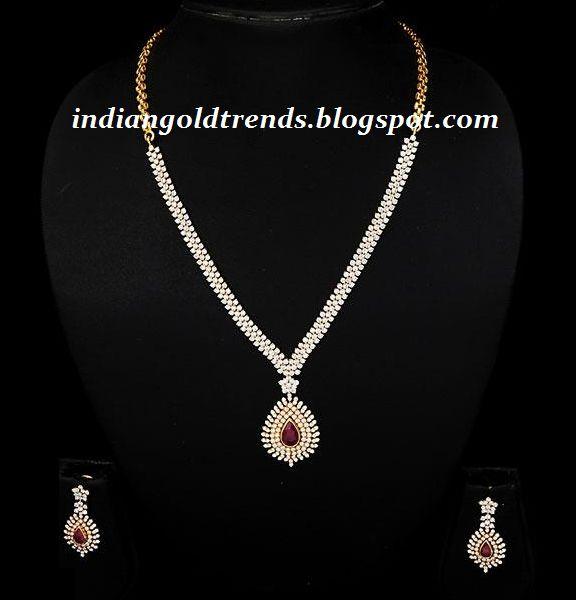 Gold And Diamond Jewellery Designs Indian Diamond Choker: 25+ Best Ideas About Diamond Necklace Simple On Pinterest