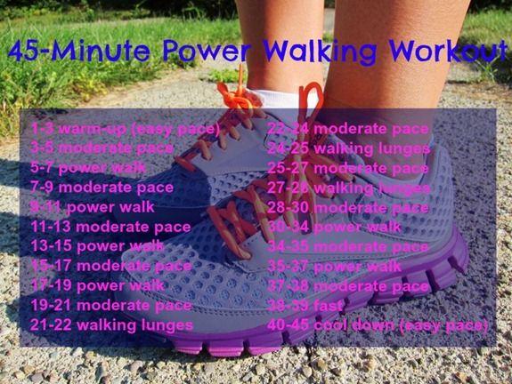 45-minute power walking workout, 4 speeds + walking lunges