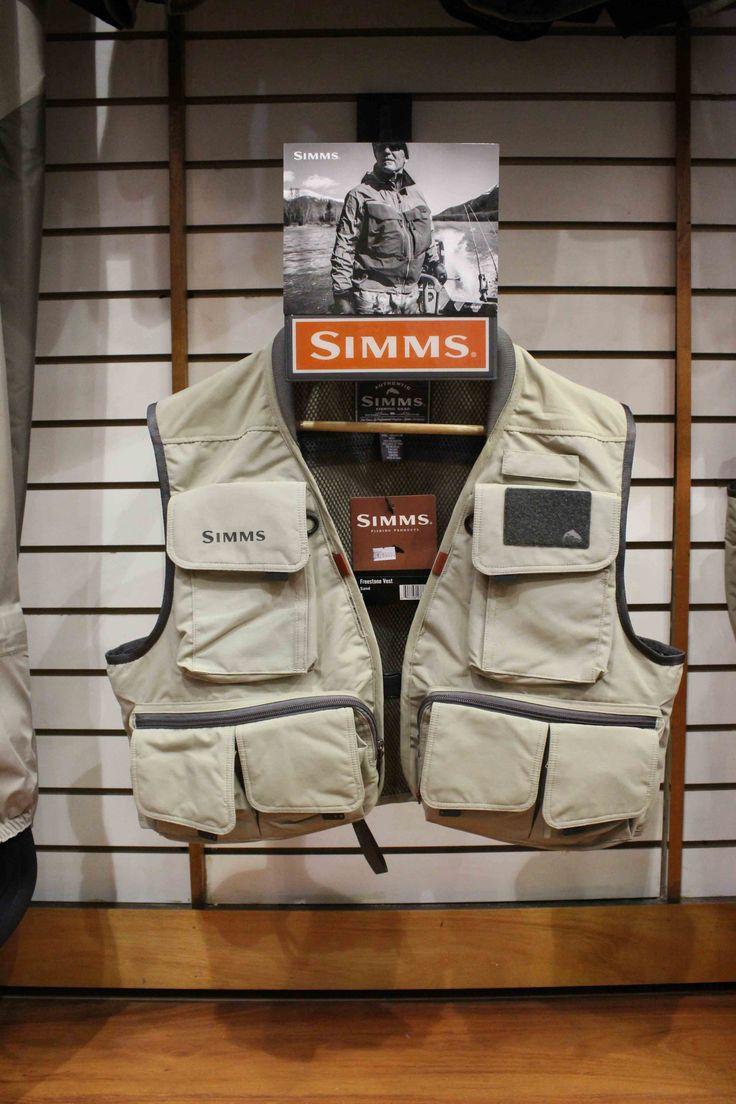 Chaleco para pesca Simms. Tenda Fly Shop en Mall Sport. #DíadelPadreMallSport