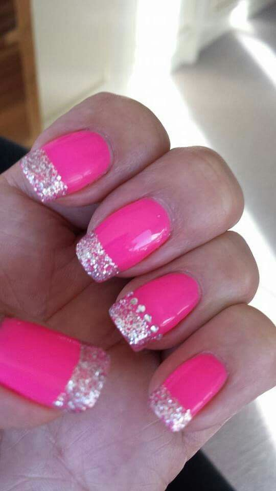 17 Best Ideas About Pink Bling Nails On Pinterest