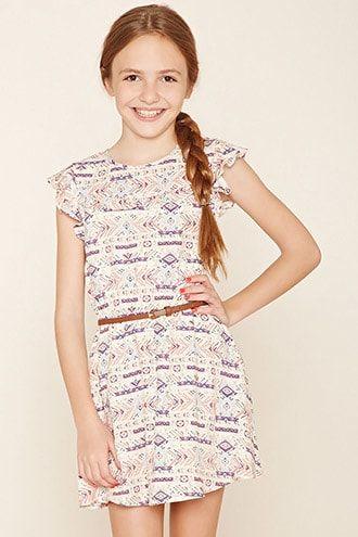 Girls Geo Print Dress (Kids)