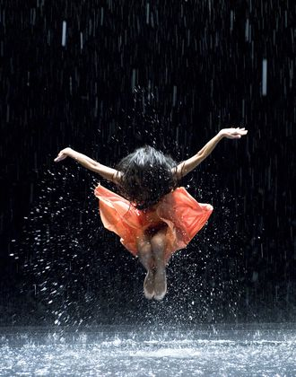 Dance in the rain.  Image from the film, Pina. 2011. Directed by Wim Wenders