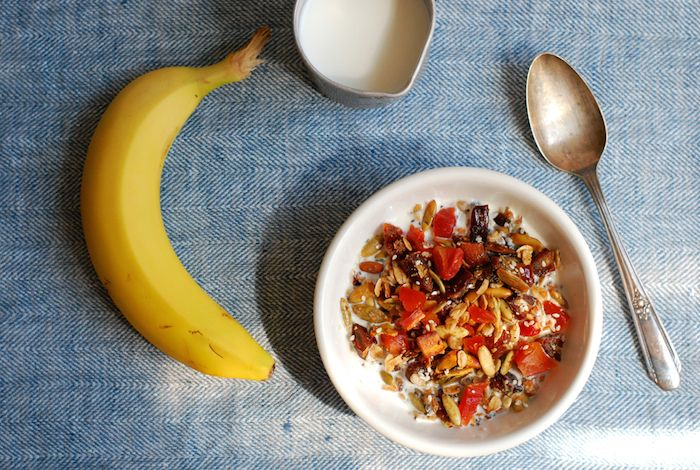 Homemade Granola with Dried Fruit #makebreakfastcount