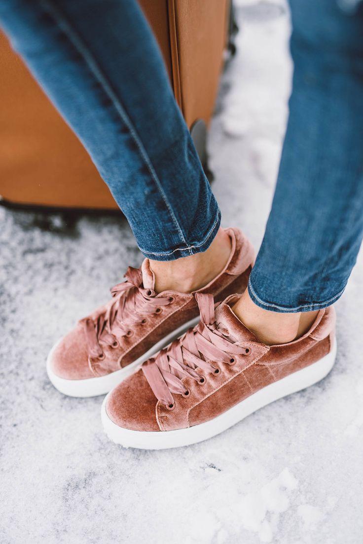 Pink Velvet Sneakers <3