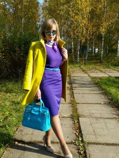 С чем носить желтое пальто фото на lookagram.ru