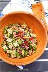 豚肉と彩り野菜の、スパイシー チョップド・サラダ