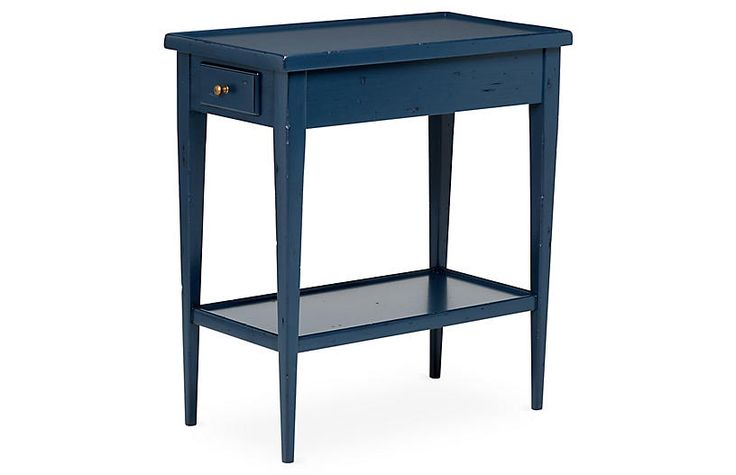 One Kings Lane Stowe Nightstand   Navy Blue