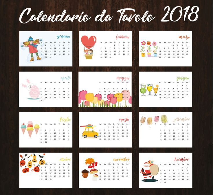 Best 25 calendario 2018 ideas on pinterest calendario - Calendari da tavolo con foto ...