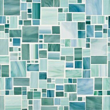 Ann Sacks Beautiful Seaglass Mosaic Tile in Chrysalis!