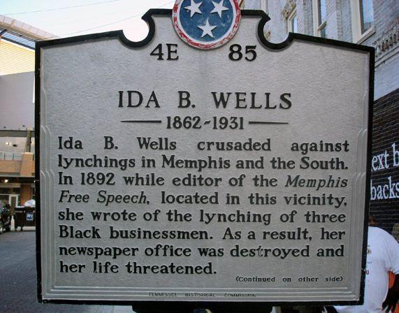 Writing a paper on ida B Wells?