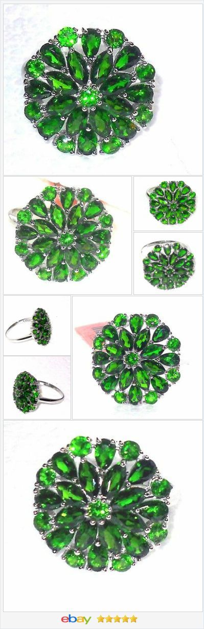 Russian Chrome Diopside ring 6.00 ctw size 9 Sterling USA Seller http://stores.ebay.com/JEWELRY-AND-GIFTS-BY-ALICE-AND-ANN