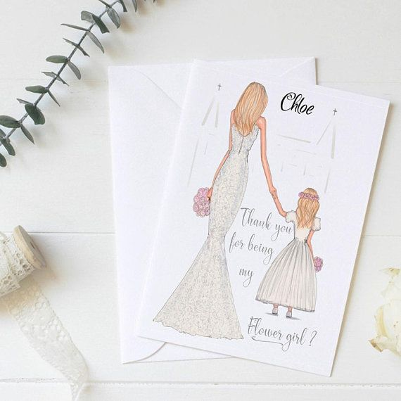 Wedding Thank You Personalised THANK YOU FOR BEING MY FLOWER GIRL Card
