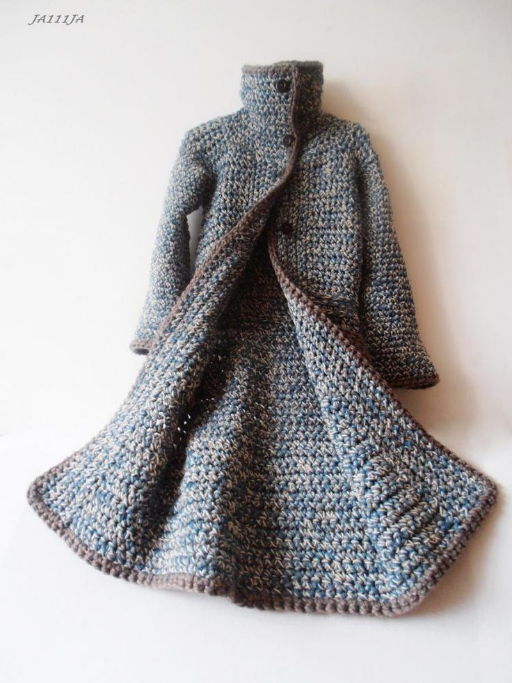 Handmade sweater coat, not a pattern. Inspiration. Beautiful!