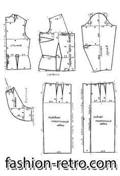 Шелковое платье-костюм 60-х