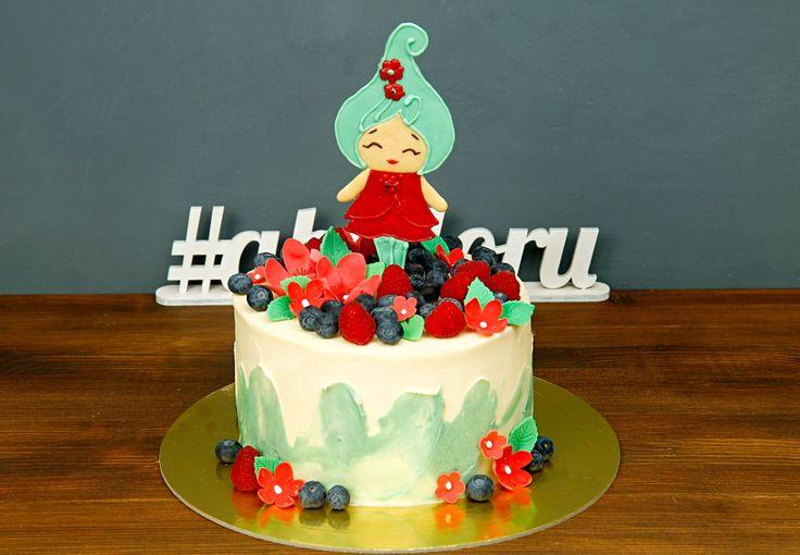 """Детский торт """"Фея Весна""""  Красочный торт в оттенках весны - отличный вариант угощения на празднике Вашей малышки👧 А в центре тортика расположилась очаровательная девочка - Фея Весна, выполненная из шоколада! Она такая нежная, скромная, легкая и прекрасная, как и ваша именинница😇  Изготовление торта как на фото возможно от 2-х кг всего за 2350₽/кг. _________________ Опытные специалисты @abello.ru рады помочь с выбором не забываемого и натурального торта по единому номеру: +7(495)565-3838…"""