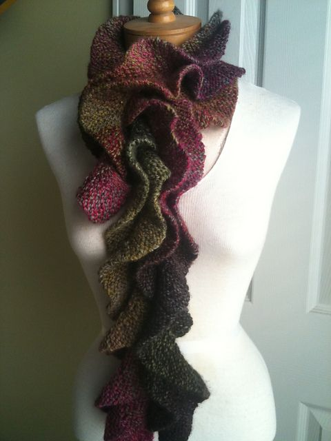 Potato Chip scarf!  Looks a lot more complicated than it is, a very easy knit!