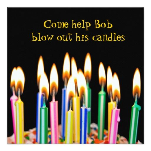 423 best Candle Birthday Invitations images – Candle Party Invitations