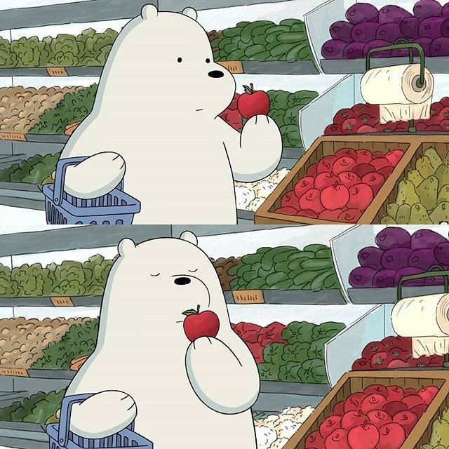 Ice Bear is the best #Polar#bear#super#cool#love#shopping#choose#thebetter#apple