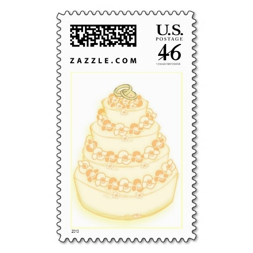 Wedding Buttercream Wedding Cake Real U S Postage Stamps