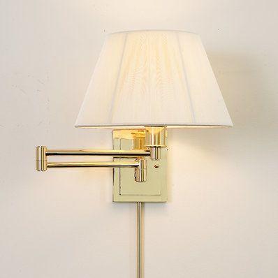 Designer Swing Arm Wall Lamp -No Shade