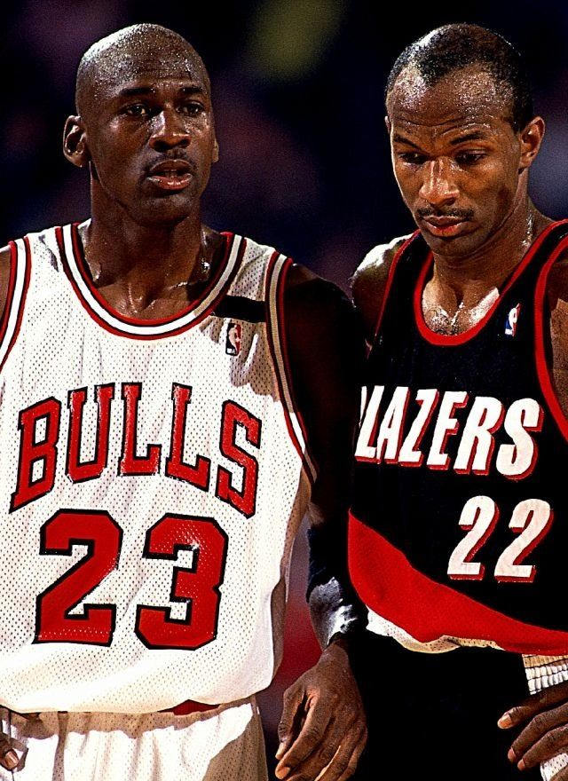 Michael Jordan Chicago Bulls Clyde Drexler Portland Trail Blazers