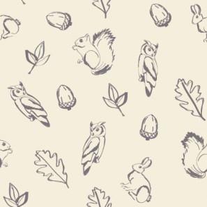 Woodland nursery wallpaper-would work as back drop to a bulltin board or art work