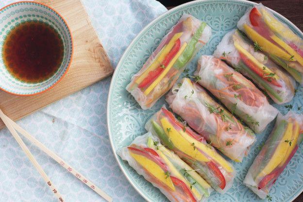 Springrolls met kip en mango | Zelf verse loempia's maken | Taste Our Joy!