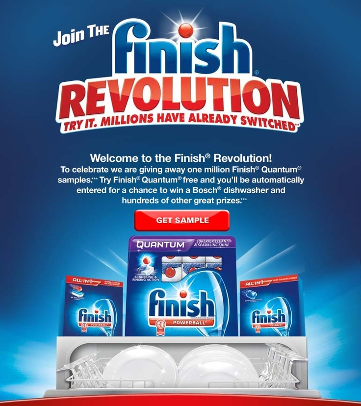 Free Finish detergent sample-