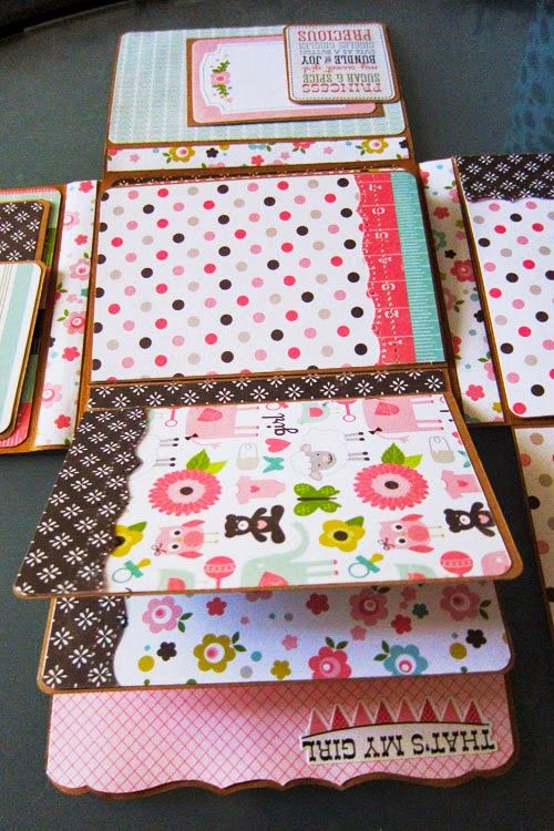 Large Wallet Girls Babyshower Photo Album ~ Jubilee Crafts
