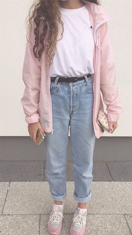 trendy style clothing clothes cute outfits jeans sweaters follow  aesthetic momjeans fashion like4like followforfollow trends pink