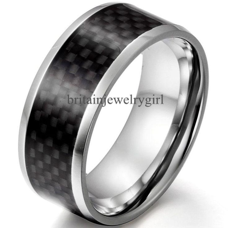 Ring schwarz carbon