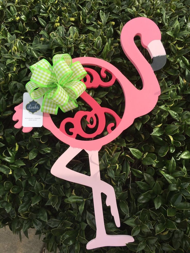 Flamingo Fancy Monogram || Custom Wooden Monogram || Single Vine Door Decor || Initial Door Hanger || Ready for SUMMER!