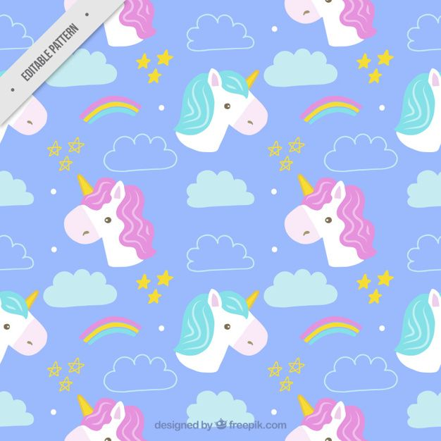 Hand drawn cute unicorns patterns  Vector | Free Download