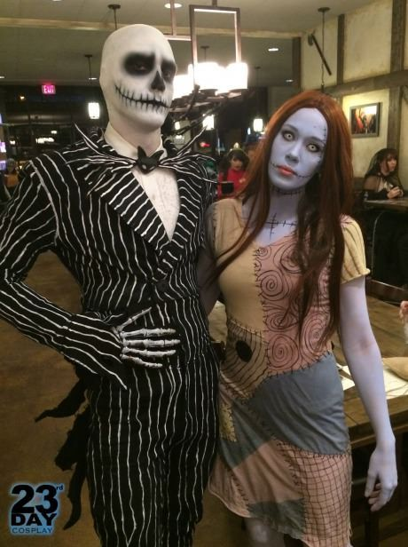 Jack and Sally from the Nightmare Before Christmas.