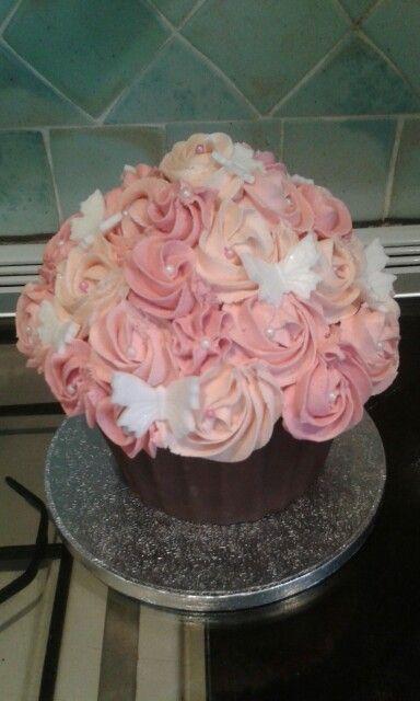 Antique pink rose cake