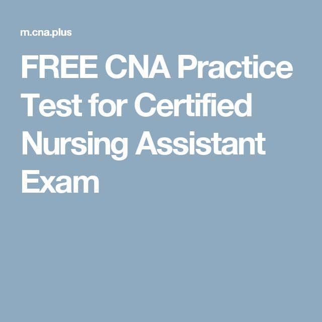 FREE CNA Practice Test for Certified Nursing Assistant Exam